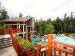 outdoor pool complex