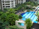 Poolview from Balcony