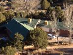 View of the home from the top of the 1/4 acre ledge