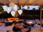 Comfy Furniture, Outdoor Blankets and Solar Lights for Dreamy Desert Evenings