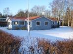 House at winter time