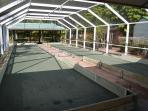 Enclosed Bocce Court
