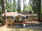Secluded home in the pines- large deck, fireplace, a/c, w/d, TV/DVD