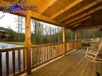 the large covered porch is a great place to watch the sun set.