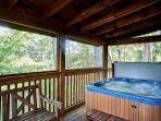 Hot tub and swing
