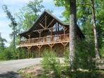 Front Side of Mountain Breeze - private 2 bedroom cabin