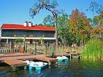 Dock with Paddle Boats