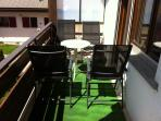 Sunny balcony with gardenchairs & bbq & view on Eischoll & Alps