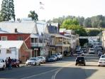 Fun shops and restaurants in downtown Sutter Creek, just 16 miles downhill