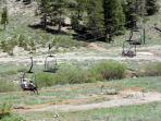 Take the Kirkwood chair lift up for a scenic tour or bring your mountain bike in the summer