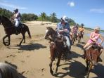 Economical Horseback riding to the beach. Start right at the gate of SunCampDR with local guides.