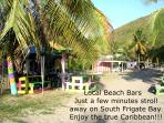Local Caribbean beach bars.... a great spot for many a happy evening!