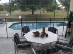 private screened pool and removable pool fence