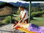 enjoy a massage in the gazebo or the private massage room in the main house guest wing