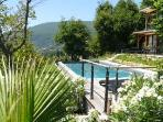 View from the pool towards Grasse