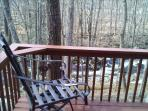 The Terrace off the Dining Room overlooking the Creek below