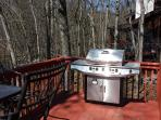 New 5 burner grill with Smoker!