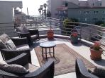500 sf sundeck with STUNNING OCEAN VIEW - 360 degree-Catalina, Malibu,Hollywood Hills sign in view.