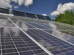 Our massive solar array with electric and hot water systems.