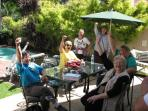 Guests having fun on the patio