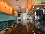 Sparkly Granite, Maple Cabinets, Wine Rack, Full Sized Fridge w/ Crushed Ice, Full Size Stove/Oven