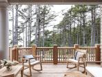 Deck view with outdoor seating