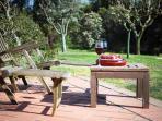 relaxing Aperitivo by the garden