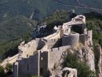 Peyrepertuse, medieval Cathar chateau