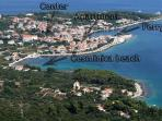Position of our house in Sucuraj (island Hvar)