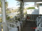 Canal side porch