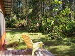 Sit on the lanai and enjoy the sights and sounds of the rainforest