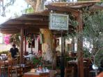 Traditional taverna located in the center of Megalochori - only 400 meters from Villa Ivi.