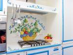 Kitchen  at Villa Lilmar in Praiano