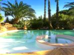 heated swimming pool villa-cocoa Ramatuelle