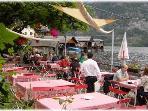 A lakeside restaurant at Hallstatt