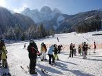 Uncrowded slopes and lifts