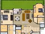Our condo floor plan is large enough for six people