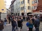 Old Towne Annecy — about a seven minute walk