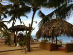 Beach restaurant at 200m