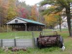 10 stall barn, 12 x 12 stalls, Sophie by manure spreader and ramp