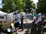Annual art show in Village Square, Hammondsport