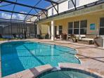 Pool deck with Rattan furniture