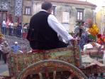il carretto siciliano, festa paesana