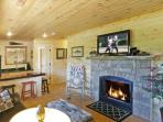 Game Room Living Area,  Gas Log Fireplace - Flat Panel Tv!