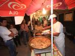 Food stall at Calheta festival