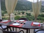 Garden dining table ...amazing view
