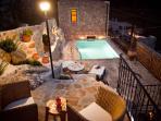 villa galatia by night