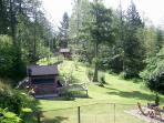 balcony view towards the cabin