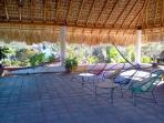 Rooftop palapa, yoga / dance area