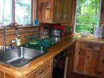 kitchen sink with d.w., micro, stove